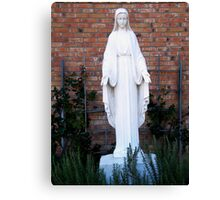 Mother Mary in the Garden Canvas Print