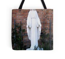 Mother Mary in the Garden Tote Bag