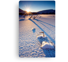 The Long Shadows of Winter Canvas Print
