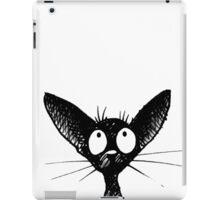 Funny Black Oriental Cat iPad Case/Skin