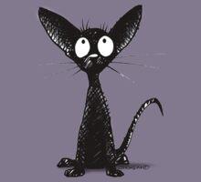 Funny Black Oriental Cat Kids Tee
