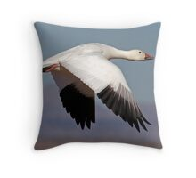 Downbeat Snow Flight Throw Pillow