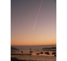 Contrail at dawn ....... Photographic Print