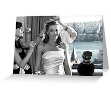 Fussing over the bride... Greeting Card