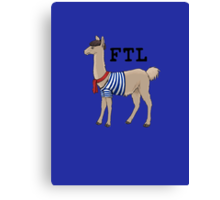 French the Llama Canvas Print