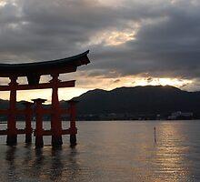Miyajima's Floating Shrine at Sunset by Harlequitmix