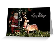 Christmas Tails Greeting Card