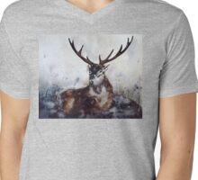 Stag Mens V-Neck T-Shirt
