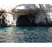 Caves at blue Grotto Photographic Print