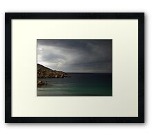 Storm approaching from over the sea Framed Print