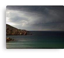 Storm approaching from over the sea Canvas Print