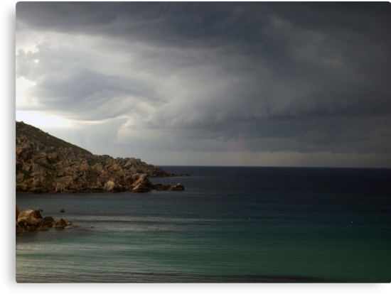 Storm approaching from over the sea by Christian  Zammit