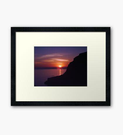 Sunset at Xlendi, Gozo Framed Print