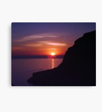 Sunset at Xlendi, Gozo Canvas Print