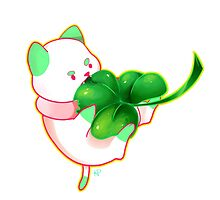 Green PuppyCat Sticker by Kyuupeach