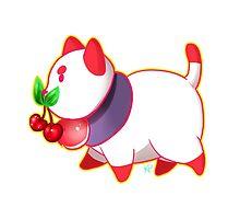 Red PuppyCat Sticker by Kyuupeach