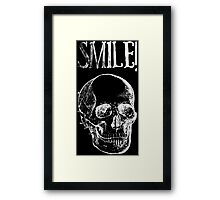 Smile! - White Framed Print