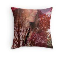 The Lady of Autumn Throw Pillow