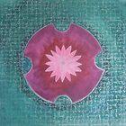 Serene Pink Lotus Mandala by Paula Swenson