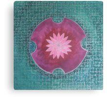 Serene Pink Lotus Mandala Canvas Print