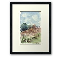 Our neighbour's fence Framed Print
