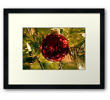 big red ball Framed Print