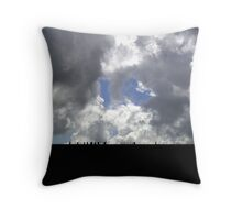 Walking the Ribble Viaduct Throw Pillow