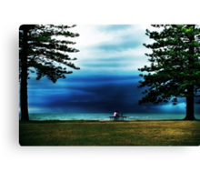 Watching the storm... Canvas Print