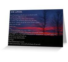Ice Angel Greeting Card