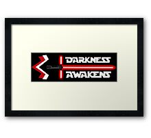 Darkness Awakens Framed Print