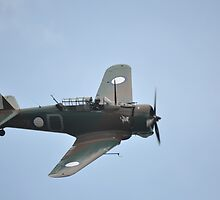 Wirraway Flypast @ Catalina Festival, Rathmines, Australia 2012 by muz2142