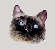 Jasper - Black Blue-Eyed Siamese Seal Point Cat by Bamalam Art and Photography