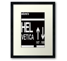 Helvetica Typography Arrows Framed Print