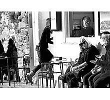 Lunchtime at Cafe' Pasta Photographic Print