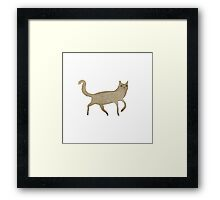 Suspicious-Looking Moggy Framed Print