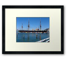 H M S Warrior Framed Print