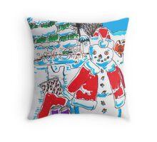 Holiday Dip! Throw Pillow
