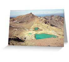 SULFUR LAKES Greeting Card