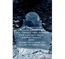 At Last On Earth I Rest Photographic Print