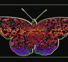 Batik Butterfly II by Bonnie T.  Barry