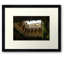 Courtyard - Green Mediterranean Serenity and Peace Framed Print