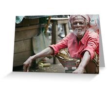 man of the markets: smoko Greeting Card
