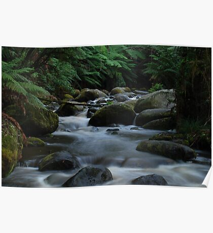 Smooth flowing river Poster