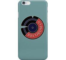 Recordman iPhone Case/Skin
