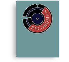 Recordman Canvas Print