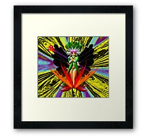 Sorceress in Flames - mugs, etc Framed Print