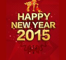 HAPPY NEW YEAR 2015 , YEAR OF GOAT by giftshop