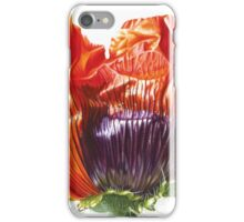 Oriental Poppy - Just Open iPhone Case/Skin
