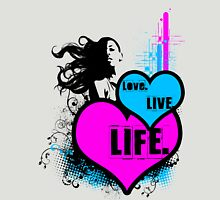 oO Love.Live.Life Oo Womens Fitted T-Shirt