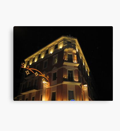 Magnificent hotel illuminated Canvas Print